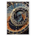 Regalos medievales del destino del reloj de los en tarjeta