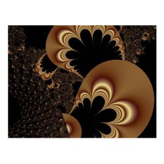 Regalos negros del arte del fractal del pétalo de postal