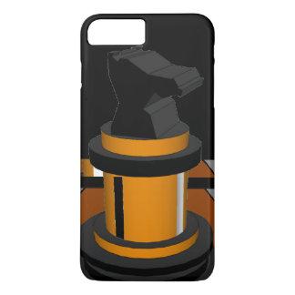 Regalos negros del friki del caballero del ajedrez funda iPhone 7 plus