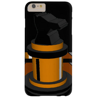 Regalos negros del friki del caballero del ajedrez funda para iPhone 6 plus barely there