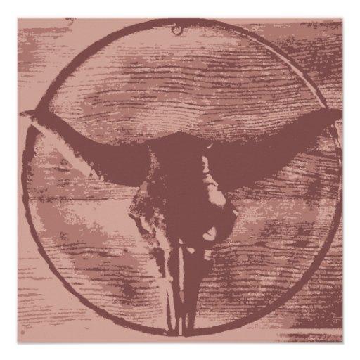 Regalos occidentales del vaquero del cráneo de anuncio personalizado