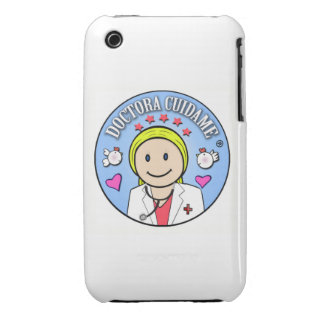 Regalos para Doctora Rubia y Celeste Cuidame Case-Mate iPhone 3 Cobertura