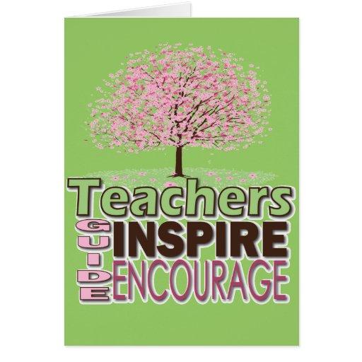 Regalos para los profesores tarjeta