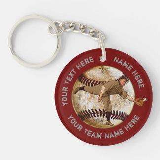 Regalos personalizados del béisbol para los llavero