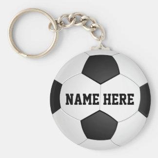 Regalos personalizados del fútbol para los llavero redondo tipo chapa
