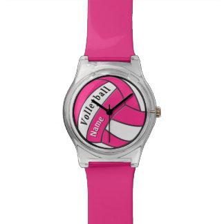 Regalos personalizados del voleibol, reloj del