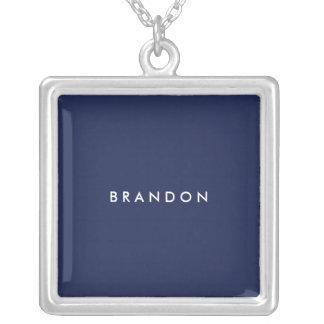 Regalos personalizados para el collar de plata
