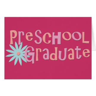 Regalos preescolares de la graduación del chica tarjeta