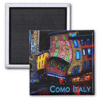 Regalos raros del viaje - Como Italia Imán Cuadrado