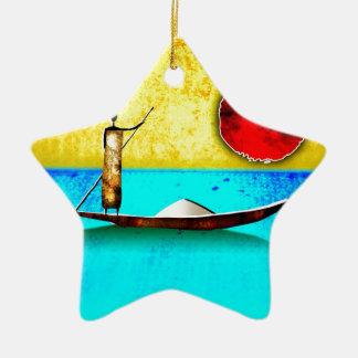 regalos retros del estilo del vintage de af024 adorno navideño de cerámica en forma de estrella