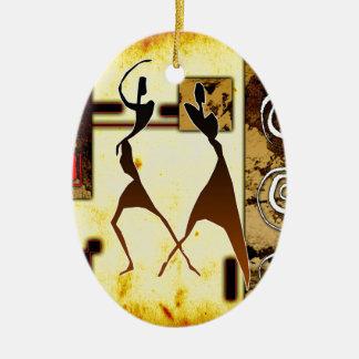 regalos retros del estilo del vintage de af043 adorno navideño ovalado de cerámica