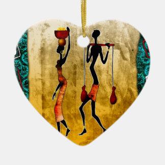 regalos retros del estilo del vintage de af053 adorno navideño de cerámica en forma de corazón