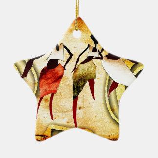 regalos retros del estilo del vintage de af060 adorno navideño de cerámica en forma de estrella