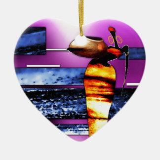 regalos retros del estilo del vintage de af063 adorno navideño de cerámica en forma de corazón