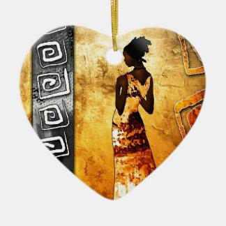 regalos retros del estilo del vintage de af083 adorno navideño de cerámica en forma de corazón