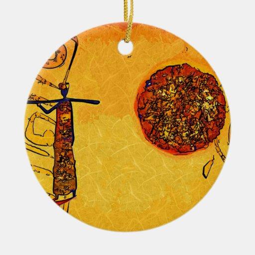 Regalos retros del estilo del vintage de África Ornamento De Reyes Magos