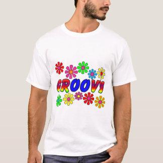Regalos retros del flower power de los años 70 camiseta