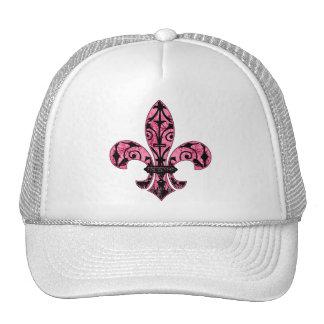 Regalos rosados de la flor de lis gorro de camionero