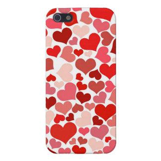 Regalos rosados del amor del el día de San Valentí iPhone 5 Cárcasa