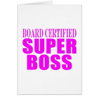 Regalos rosados frescos para los jefes Boss estup Tarjeta