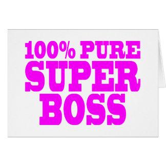 Regalos rosados frescos para los jefes El 100 Bo Tarjeta