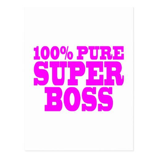Regalos rosados frescos para los jefes: El 100% Bo Tarjetas Postales