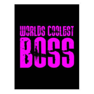 Regalos rosados frescos para los jefes: Mundos Bos Postales
