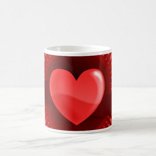 Regalos rosados rojos del amor del el día de San Taza De Café