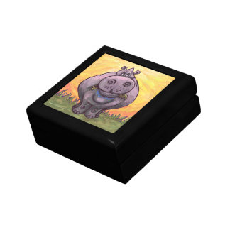 Regalos y accesorios del Hippopotamus Cajas De Recuerdo