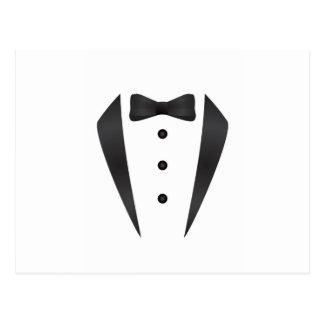 Regalos y apoyos de boda del smoking para el novio postal