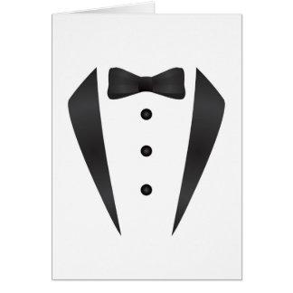 Regalos y apoyos de boda del smoking para el novio tarjeta de felicitación
