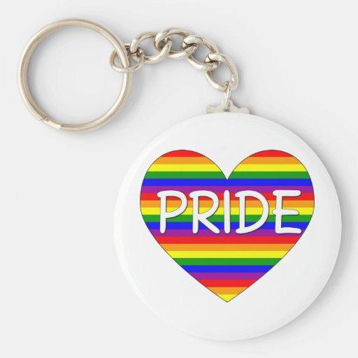 Regalos y camisetas del corazón del orgullo gay de llavero personalizado