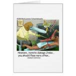 Regalos y coleccionables divertidos de la odontolo tarjeta