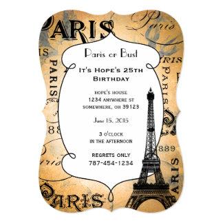 Regalos y recuerdos de París Francia Invitación 12,7 X 17,8 Cm