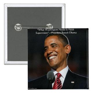 Regalos y tarjetas de la cita de Barack Obama y de Chapa Cuadrada