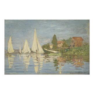Regattas en Argenteuil de Claude Monet Impresion Fotografica