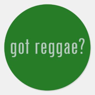 ¿reggae conseguido? etiqueta redonda