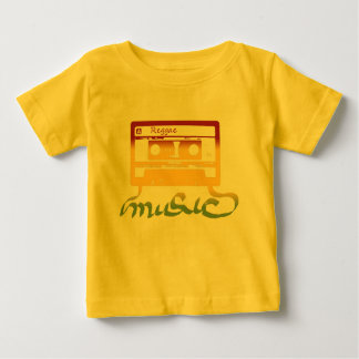 reggae de la cinta del rasta camiseta de bebé
