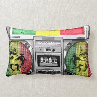 reggae del boombox cojín lumbar