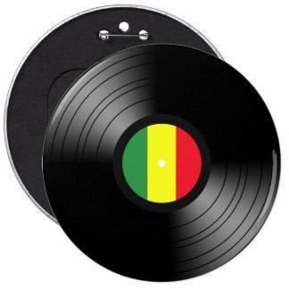 Reggae del vinilo chapa redonda de 15 cm
