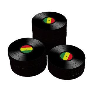 Reggae del vinilo juego de fichas de póquer