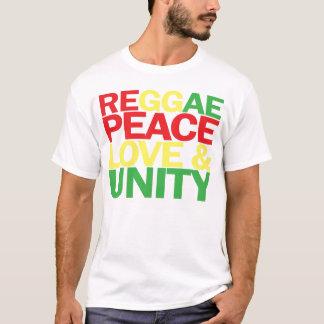 Reggae. Paz, amor y unidad Camiseta