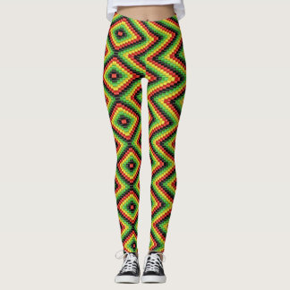 Reggae Roots Rasta hippie - Power yoga Ir Leggings