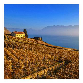 Región de Lavaux, Vaud, Suiza Invitación 13,3 Cm X 13,3cm