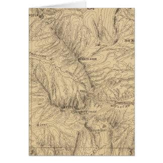Región del paso de TruckeeDonner de la topografía Tarjeta