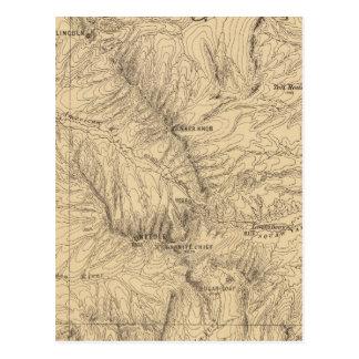 Región del paso de TruckeeDonner de la topografía Tarjeta Postal