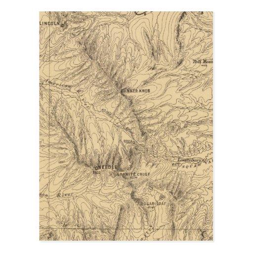 Región del paso de TruckeeDonner de la topografía, Tarjeta Postal