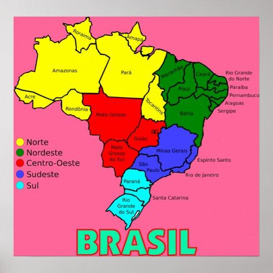 Resultado de imagen de regiones de brasil