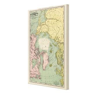 Regiones polares del norte impresión en lienzo