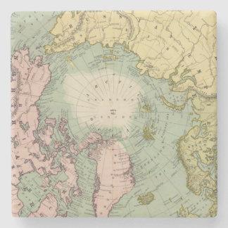 Regiones polares del norte posavasos de piedra